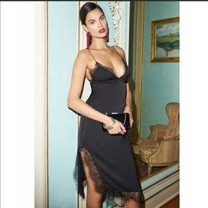 Revolve Capulet Parlour Lace Black Slip Dress